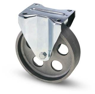 Öntöttvas kerék fix villás 100 mm fix villa