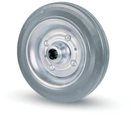 szürke tömörgumis kerék fém felni 100 mm