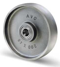 öntöttvas kerék golyós csapágyazással 100 mm