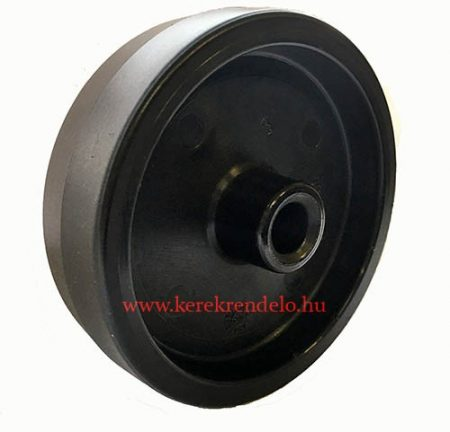 Fekete poliamid kerék 100 mm