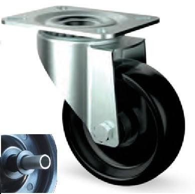 Hőálló kerék (teflonpersely) 100 mm forgó villás