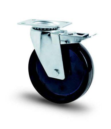 Hőálló kerék (fenolic) INOX villa teflon persellyel 100 mm