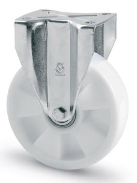 poliamid kerék fix villa 200mm