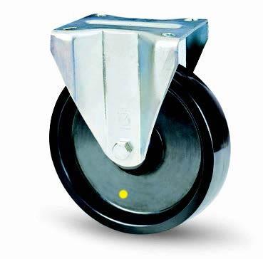 Antisztatikus poliamid kerék fix villában 100mm