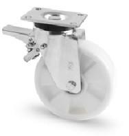 poliamid kerék fékes villa 125 mm