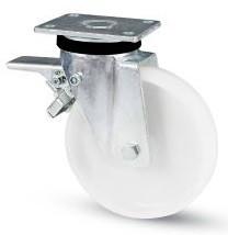 poliamid kerék fékes villa 160 mm