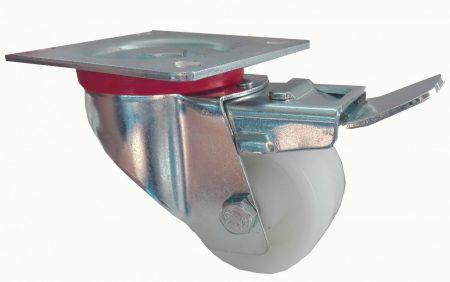 Poliamid kerék forgó-fékes villában 60x35