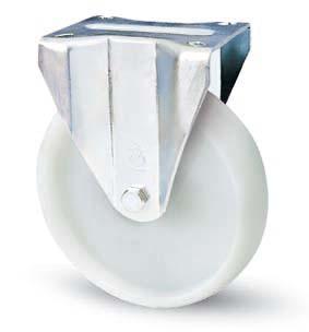 INOX poliamid kerék fix villával