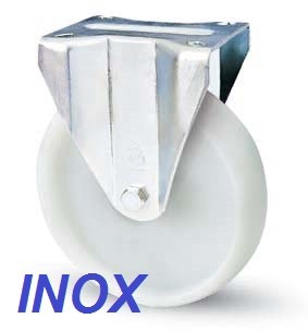 INOX poliamid kerék 80 mm fix villa
