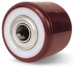 Poliamid villagörgő poliuretán futófelülettel 82x70