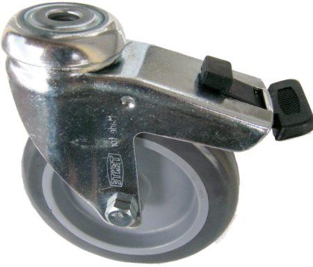 szürke nyommentes kerék hátfuratos-fékes villa 100 mm