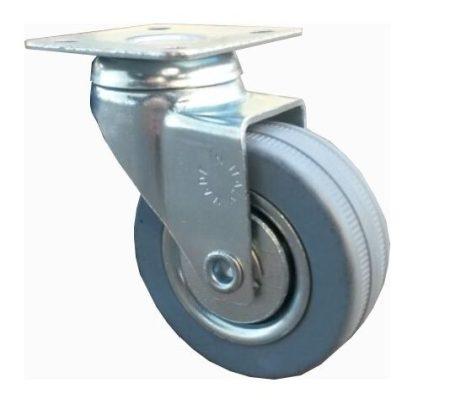 szürke gumis fémfelnis bútor kerék (golyós csapágy)