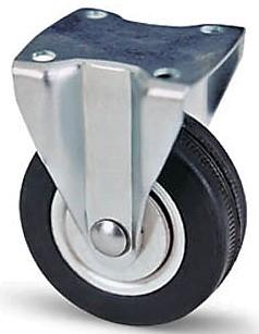 szürke gumis fix fémfelnis bútor kerék (golyós csapágy) 50 mm