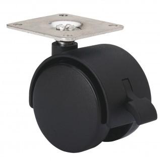 bútor görgő talpas 50 mm forgó-fékes