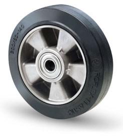 Alumínium kerék elasztikus-gumi futófelülettel 200 mm
