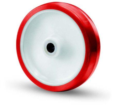 Poliamid kerék poliuretán futófelülettel 125 mm