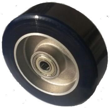 Alumínium kerék PUR futófelület 125 mm