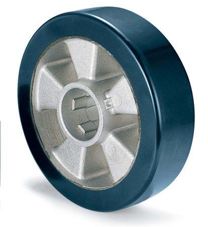Alumínium kerék 200 mm PUR futófelülettel (KÉK)