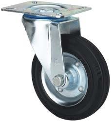 Tömörgumis kerék forgó villa 250 mm