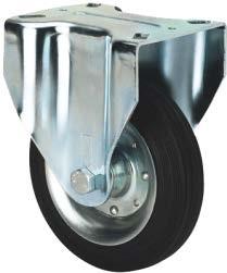 Tömörgumis kerék fix villában 250mm