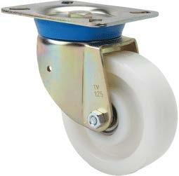 Nagy teherbírású poliamid kerék forgó villa 80 mm