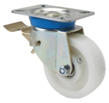 poliamid kerék forgó-fékes villa 200x42 (golyós csapágy)