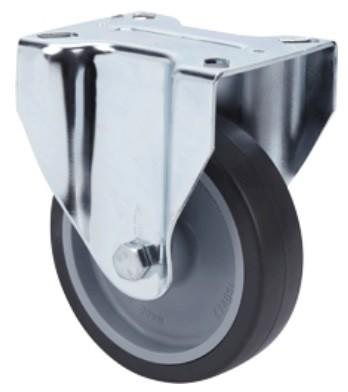 szürke elasztikus gumis kerék 100 mm fix villa