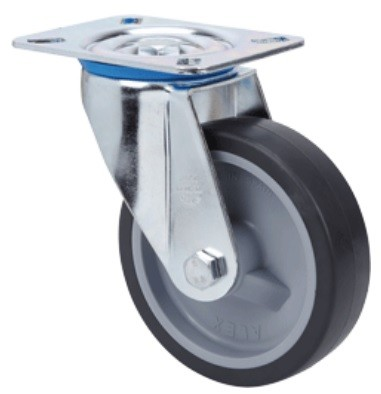 INOX elasztikus gumis kerék 100 forgóvillás
