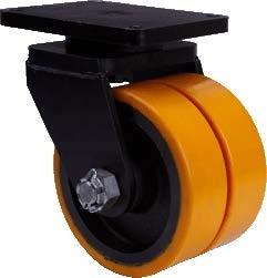 Dupla öntöttvas kerék EXTRA teherbírással forgó villában - 250mm