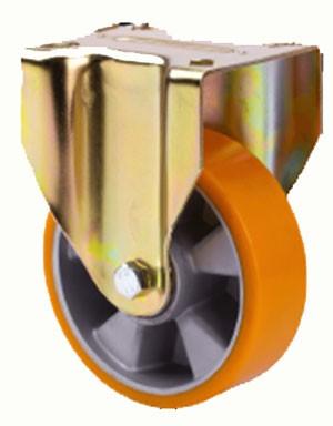 Alumínium kerék PUR futófelülettel fix villa 200 mm
