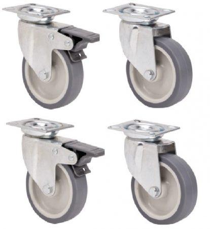 szürke gumis kerékszett 50 mm (F-FF)