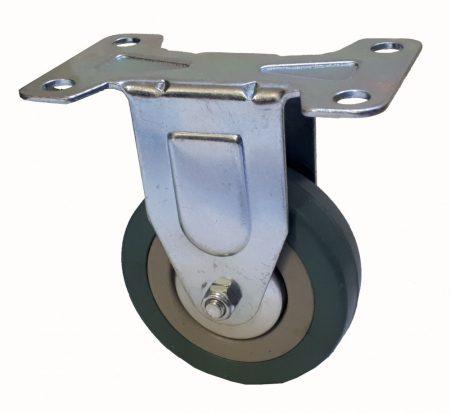 Elasztikus gumis nyommentes kerék fix villában 75x21 mm