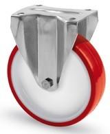 INOX poliamid kerék PUR futóf. fix 125mm