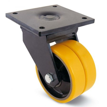 öntöttvas kerék extra teherbírással 200 mm