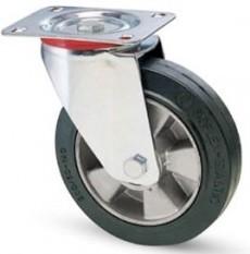 Elasztikus gumis kerék forgó villa 125 mm