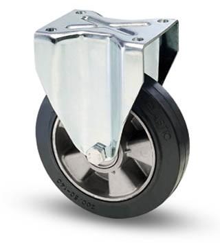 Elasztikus gumis kerék fix villa 200 mm