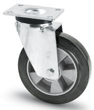 Elasztikus gumis kerék forgó villa 200 mm