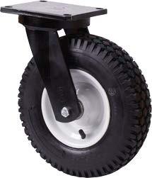 Nagy teherbírású molnárkocsi kerék forgó villa 400 mm