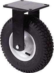 Nagy teherbírású molnárkocsi kerék fix villában 400 mm