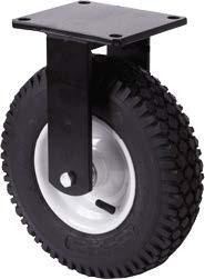 Nagy teherbírású molnárkocsi kerék fix villában 320 mm