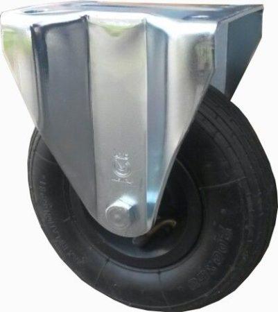 molnárkocsi kerék fix villa 200 mm