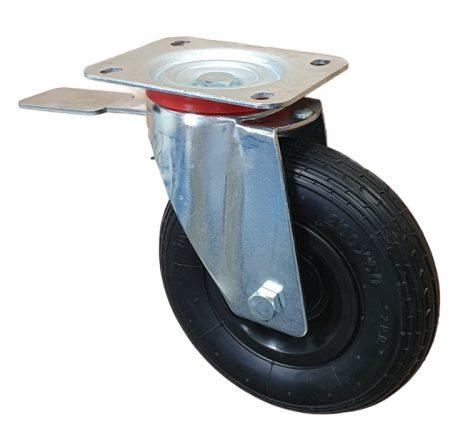 molnárkocsi kerék fékes 200 mm