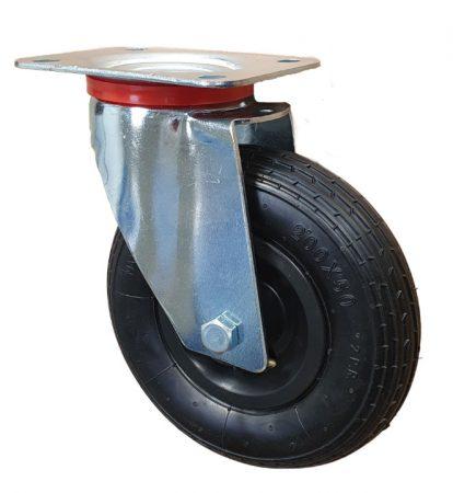 molnárkocsi kerék forgó villa 200 mm