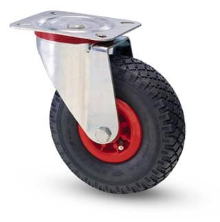 molnárkocsi kerék forgó villás 260 mm