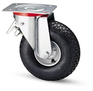 molnárkocsi kerék forgó-fékes villa 260 mm