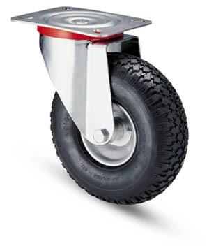 molnárkocsi kerék forgó villa 260 mm