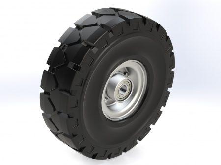 Tömörgumis acélfelnis kerék 250 mm