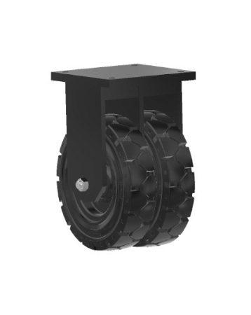 Nagy teherbírású dupla tömörgumis kerék fix 250mm