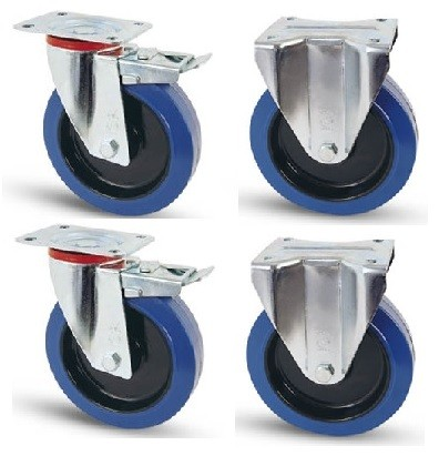 Elasztikus gumis kerék szett FF-Fix 100 mm