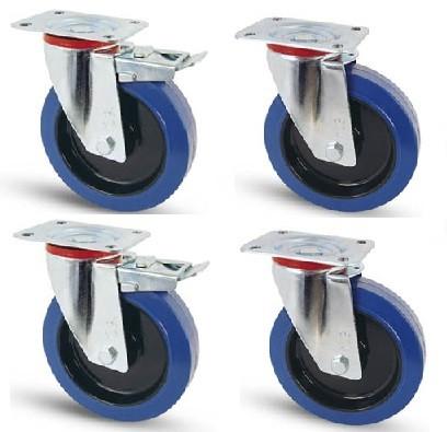 Elasztikus gumis kerék szett FF-F 100 mm